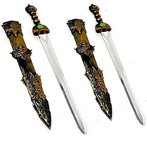 ARUNDEL SERVICES EU 2 Espadas Espadas de Caballeros Accesorio Caballero Espada de Juguete Juego Guerrero Juguete Espada de niño Dragones Guerrero