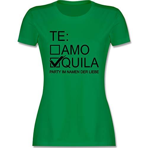 JGA Junggesellenabschied Frauen - Tequila/Teamo - schwarz - XL - Grün - JGA Frauen - L191 - Tailliertes Tshirt für Damen und Frauen T-Shirt