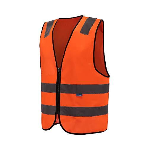 4 kleuren paardrijden unisex hoge zichtbaarheid veiligheidsvest heren reflecterend vest ritssluiting EN ISO 20471 L oranje