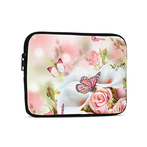 Tablet Sleeve Case Laptop Sleeve Roses Calla Lilies Tablet Sleeve Bag Cover for iPad Samsung Galaxy Tab Surface 9.7-inch