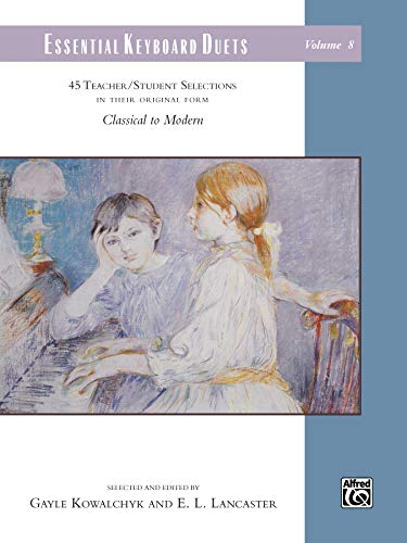 Essential Keyboard Duets Volume 8 : 45 Teacher/Student Selections in Their Original Form - Piano à 4 Mains --- Alfred Publishing