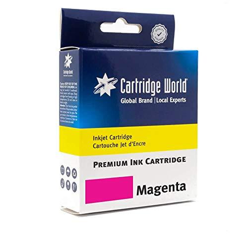 Cartridge World - Cartucho de Tinta Compatible con HP 913A, Color Magenta