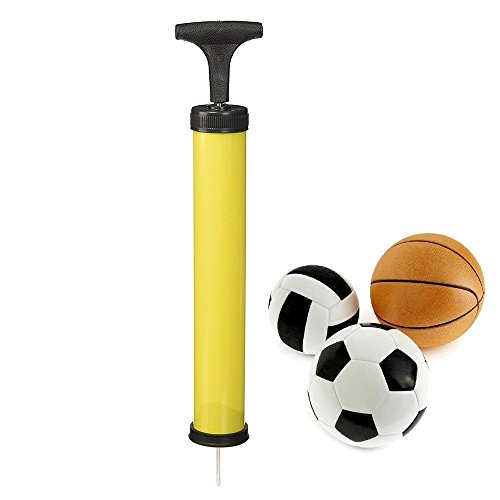 sungpunet Inflado de mano bomba de aire con aguja adaptador para bicicleta de balón de fútbol hinchable, color al azar