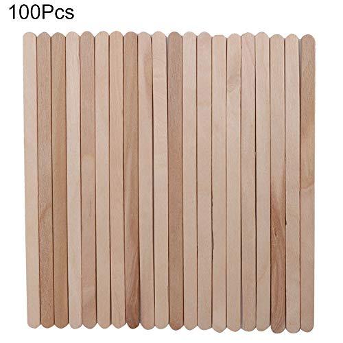 100Pcs / Bag Wax Sticks, Wood Wax Stick, sicher und hygienisch für Lippenhaar Haar Home für Augenbrauen