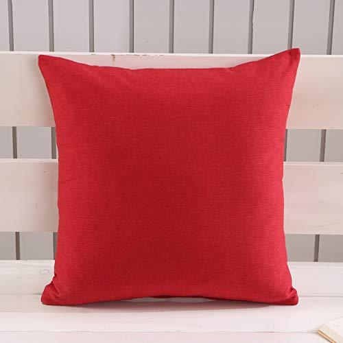 Funda De Almohada De Lino De Color Puro Funda De Almohada para Decoración del Hogar Funda De Almohada para Sofá Funda De Almohada Lavable Universal para Descanso para El Almuerzo