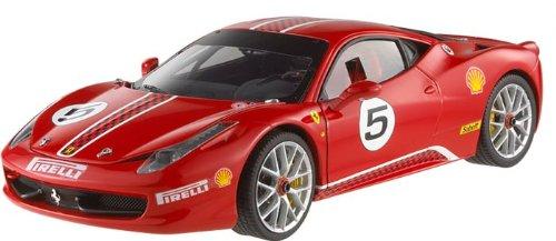 Hotwheels - Elite (mattel) - X5486 - Véhicule Miniature - Modèle À L'échelle - Ferrari 458 Italia Challenge - 2010 - Echelle 1/18