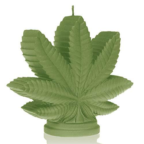 Vershy Marihuana deko Cannabis Blatt Kerze Weed Pot Geschenk 4 Farben ändern
