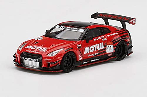 MINI GT 1/64 LBWORKS Nissan GT-R R35 タイプ2 リアウイング バージョン 3 Infinite MOTUL 右ハンドル 完成品