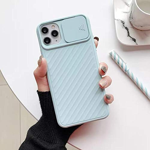 Funda para Compatible con iPhone 11/11 Pro / 11 Pro Max Funda protectora con protección para lentes de cámara Funda deslizante Funda flexible antideslizante ( Color : Light Blue , Size : 7plus/8plus )