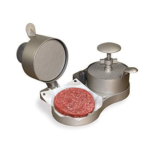 Weston Burger Express Double Hamburger Press with Patty Ejector (07-0701), Makes 4 1/2' Patties, 1/4lb to 3/4lb,Grey