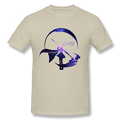 Geek Rwby Starry Crescent Sky Ruby Rose Logo Men's Tee Natural Size L