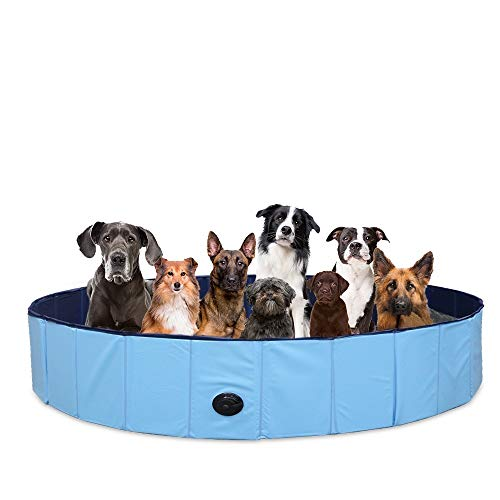 SURPCOS Foldable Dog Swimming Pool, New Upgraded Collapsible Pet Bath Pool for...