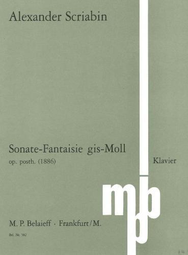 Sonate-Fantaisie gis-Moll: op. posth.. Klavier.