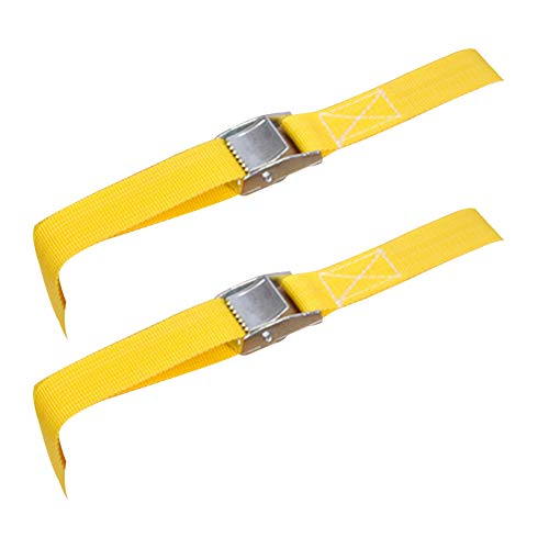2 Packs Of 2 Heavy Duty Ratchet Tie Down Straps 5 Metre Lashing Straps