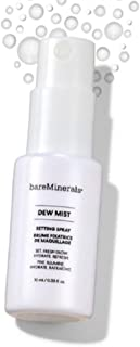 BAREMINERALS Dew Mist Makeup Setting Spray, Set Hydrate & Glow, 0.33 fl oz / 10 ml, Travel Sample Size Mini