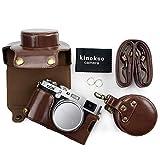 kinokoo Pu leder kameratasche für fuji x100f und 23mm objektiv, schützende kameratasche (Kaffee)