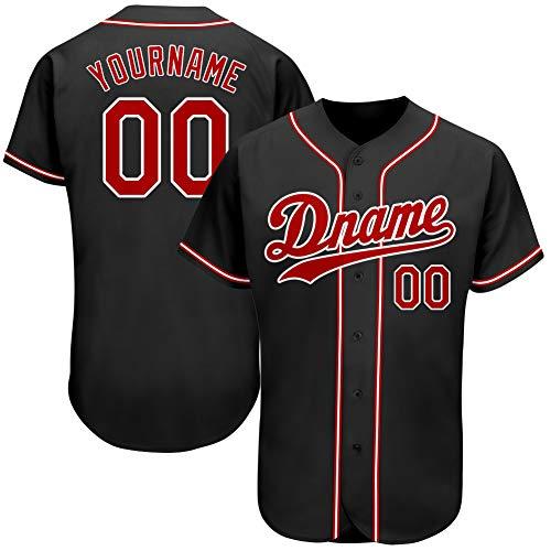 Custom Hip Hop Baseball Jersey Mesh Full Button Softball Stitched Personalized Team Uniforms for Men L
