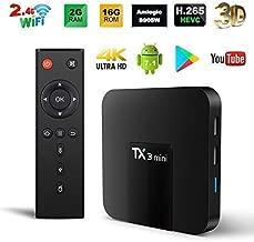 Android TV Box, TX3 Mini Android 7.1 TV Box Quad Core 64 Bits Support WiFi 100M LAN Smart TV Box 4K 3D HDR IPTV Media Player