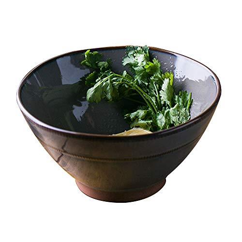 W&H Bol À Soupe Ramen Créatif Bol À Salade De Dessert Vaisselle en Céramique Bol À Soupe, Lave-Vaisselle Et Four À Micro-Ondes - .517.5cm / H9.2cm ++ (Color : B, Size : 17.5X9.2CM)