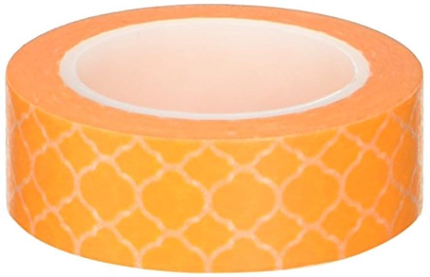 Colorful Patterns Japanese Washi Masking Tape - Yellow Marrakech Trellis