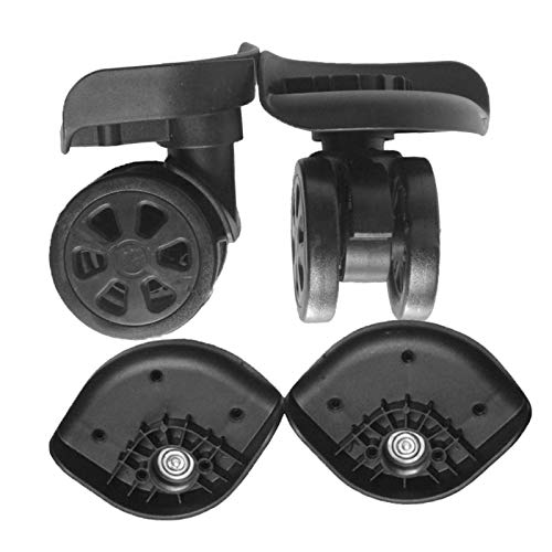 SDENSHI 2 Pieces Replacement Luggage Suitcase Wheels Swivel Mute Casters Black