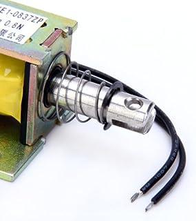 Gazechimp DC 12 V schuiflijst, open frame, solenoïde, elektrische magneet, 0,8 N, 10 mm (ZYE1-0837ZP)