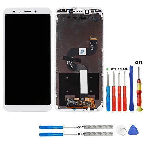 Swark - Pantalla LCD compatible con Xiaomi Mi A2/Mi 6X M1804D2SG, M1804D2SI (color blanco, con marco), pantalla táctil, digitalizador y herramientas