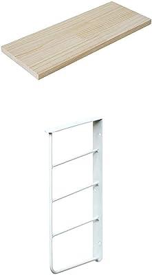 平安伸銅工業 ウォールシェルフ 2段 ホワイト 幅40 奥行15cm 棚板無塗装