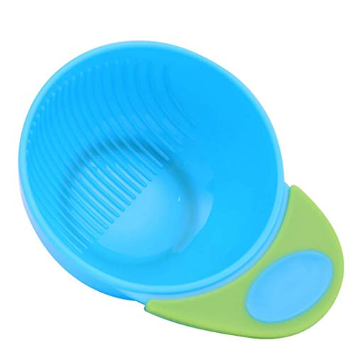 Difcuy Baby Infant Child Toddler Newborn Products, Maternal Baby Supplies,2Pcs/Set Manual Baby Food Fruit Masher Bowl Grinder Grinding Rod Feeding Tools - Blue Green