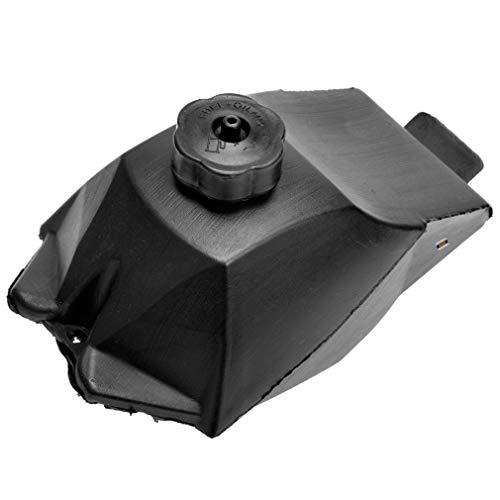 HIAORS Black Plastic Gas Petrol Fuel Tank for 47cc 49cc Mini Moto Dirt Pocket Bike ATV 4 Wheeler Quad Minimoto Kart