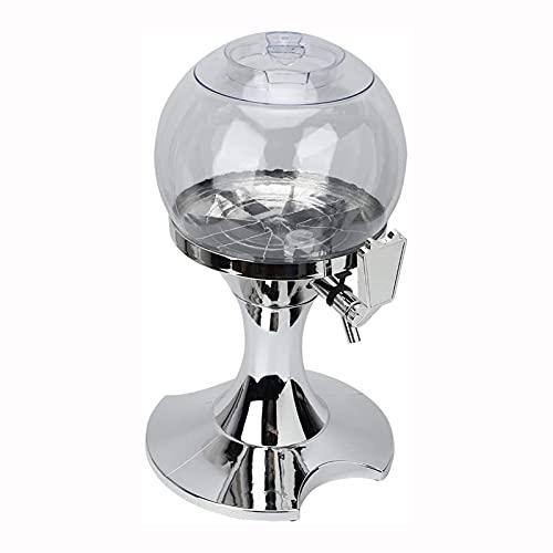 GQTYBZ Dispensador de Torre de Cerveza De 3,5 L, Torre de Cerveza de Mesa con Tubo de CongelacióN, para Mantener Las Bebidas Heladas Dispensador de Torre de Bebidas Transparente, para Bar