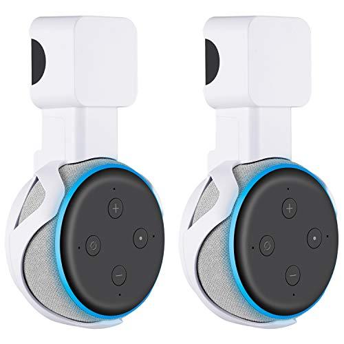 Sonomo Halterung Wandhalterung für Dot (3. Gen.), Ständer für Dot 3nd Generation Sprachgesteuerter Lautsprecher, Keine Störenden Kabel und Platzsparen (Weiß, 2 Pack)