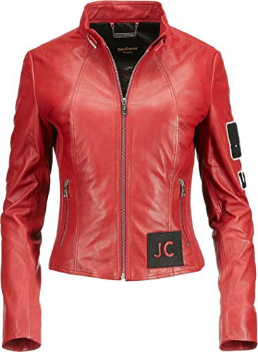 JUICY COUTURE JC-91-117 Prom - Giacca in Pelle con Toppe Red Fancy M