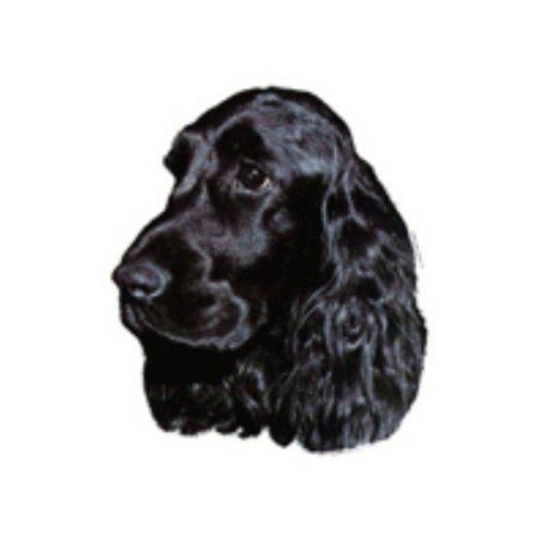 World Stickers Schwandt Heimtierbedarf 13018 Aufkleber 2 Stück ca. 140 x 160 mm für Warnschild English Cocker Spaniel schwarz