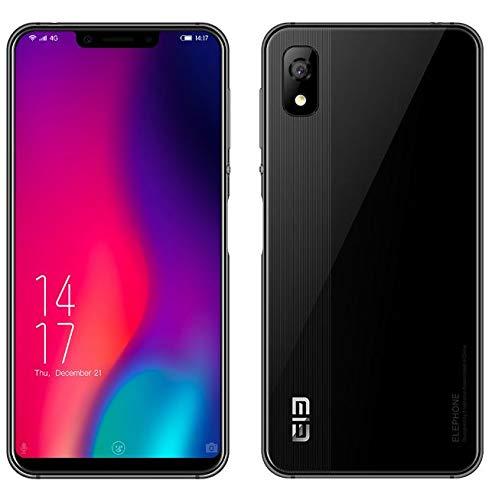ELEPHONE A4 Pro Smartphone Libres - 5,88' Pantalla de Notch (relación 19: 9 y Todo Vidrio) Móviles Teléfono Android 8.1 4G, colisión de Arte y Metal, MT6763 Octa Core 2.0GHz 4GB+64GB -Negro