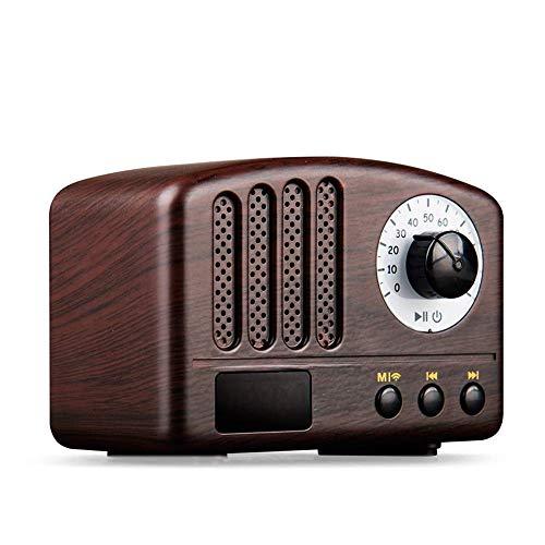 Retro Radio - Altavoz Portátil Clásico Estilo Vintage Mini Tamaño Altavoz Bluetooth...