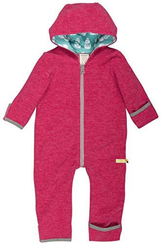 loud + proud Baby Overall aus Dickem, Warmen Bio Woll-Fleece und Bio Baumwolle. Vorne mit Reißverschluss, GOTS Zertifiziert,Hibiscus,50/56 cm