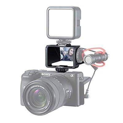 UURig Vlog Selfie Flip Screen for Mirrorless Camera for Sony A7R3 A7III A7II A6000/A6300/A6500 Cold Shoe Bracket Microphone Mount for Fujifilm XT3 XT20 Canon Panasonic GX85 Nikon Z7 Reverse Mirror from UURig