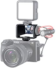 UURig Vlog Selfie Flip Screen for Mirrorless Camera for Sony A7R3 A7III A7II A6000/A6300/A6500 Cold Shoe Bracket Microphone Mount for Fujifilm XT3 XT20 Canon Panasonic GX85 Nikon Z7 Reverse Mirror