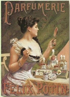 Anjoes Französisches Metallschild Retro AD Parfüm Creme Felix Potin Soap Retro Vintage 8 x 12 Blechschild Wanddekoration Home Decor