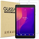 [2 Pack] ProCase Screen Protector for Alcatel Joy Tab 2 2020 Release ((Model: 9032Z) / Joy Tab/Joy Tab Kids and Alcatel 3T Tablet 8-inch, Tempered Glass Screen Film Guard Screen Protector –Clear