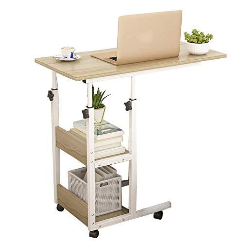 LIVHOOU Mesa auxiliar con ruedas, escritorio para ordenador portátil, mesa auxiliar de sofá,...