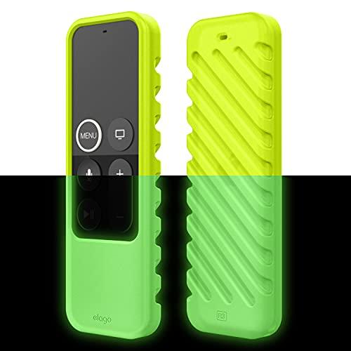 Elago R3 Protettiva Case Cover Custodia Apple TV Remote Telecomando Compatibile con Telecomando Apple TV 4th e 5th Siri Remote Control -Extra Protezione, Cordino Incluso (Neon Giallo)
