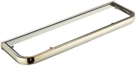 Shower Organizer European Simple Copper Rectangular Glass Tray Wall-Mounted Bathroom Mirror Cosmetics Racks Bathroom Acces...