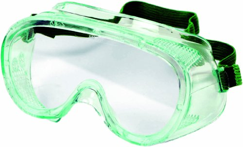 Sellstrom 83010 PVC Lightweight Direct Child Size Economy Goggle, Green Tinted Body/Clear Anti-Fog Lens