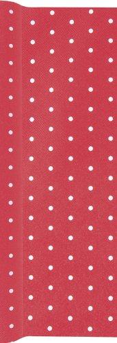 Camino de mesa papel de lunares blancos en rojo/camino/camino de ...