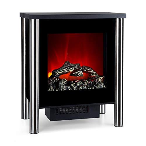 Klarstein Copenhagen • Chimenea eléctrica • Calefacción con termostato • 950 ó 1900 W • Efecto Llama • Frente de Cristal