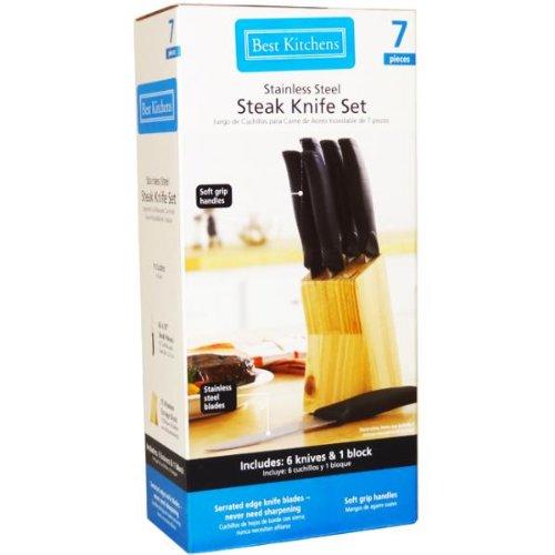 Best Kitchens 7 Piece Stainless Steel Steak Knife Set
