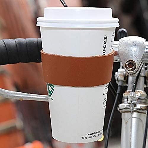 Kikkerland Leder Kaffeehalter fürs Fahrrad, braun, S, M, L