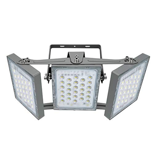 STASUN 150W LED Flood Light Dimmable , 13500lm Super Bright Outdoor Security Lights with Wider Lighting Angle, 5000K Daylight, IP65 Waterproof Outside Yard Court Stadium Parking Lot Lights
